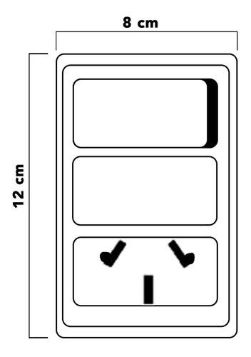 llave de luz armada covre obra pack x 5 punto y toma