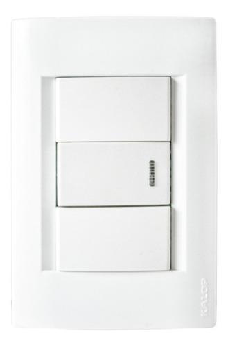 llave de luz armada kalop línea civil 1 punto color blanco