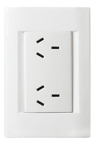 llave de luz armada kalop línea civil toma doble blanco