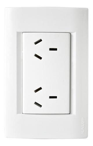 llave de luz armada kalop línea civil toma doble iram blanco