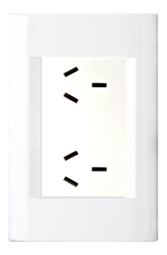 llave de luz armada kalop línea civil toma doble negro