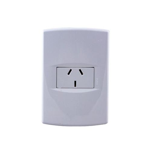 llave de luz armada una toma 10a blanco sica