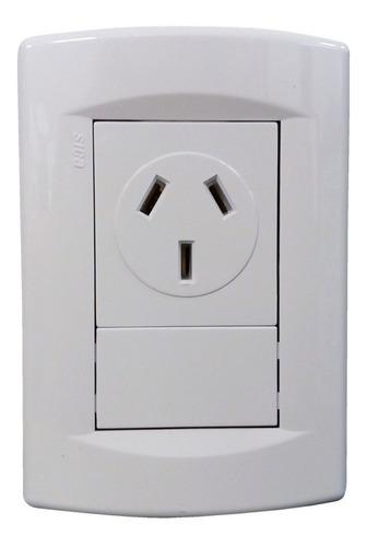 llave de luz armada una toma 20a blanco sica