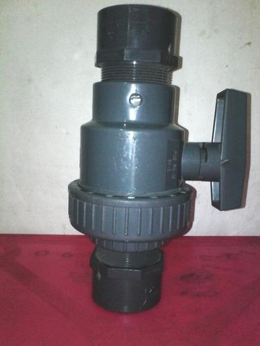 llave de paso 2 pulg pvc desarmable marca amanco