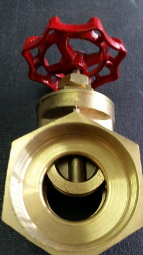 llave de paso compuerta de 2 pulgadas bronce