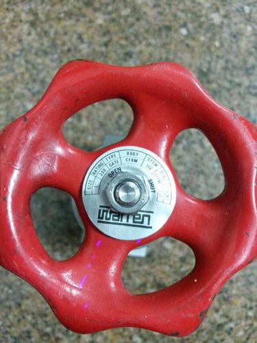 llave de paso compuerta pesada 1'' warren