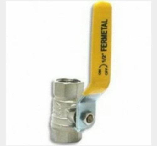 Llave de paso de bola 1 pulgada de paso rapido fermetal for Montura llave de paso