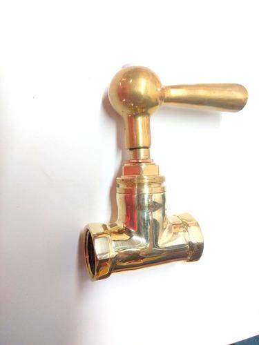 llave de paso de bronce d 1/2 griferia desague canilla caños