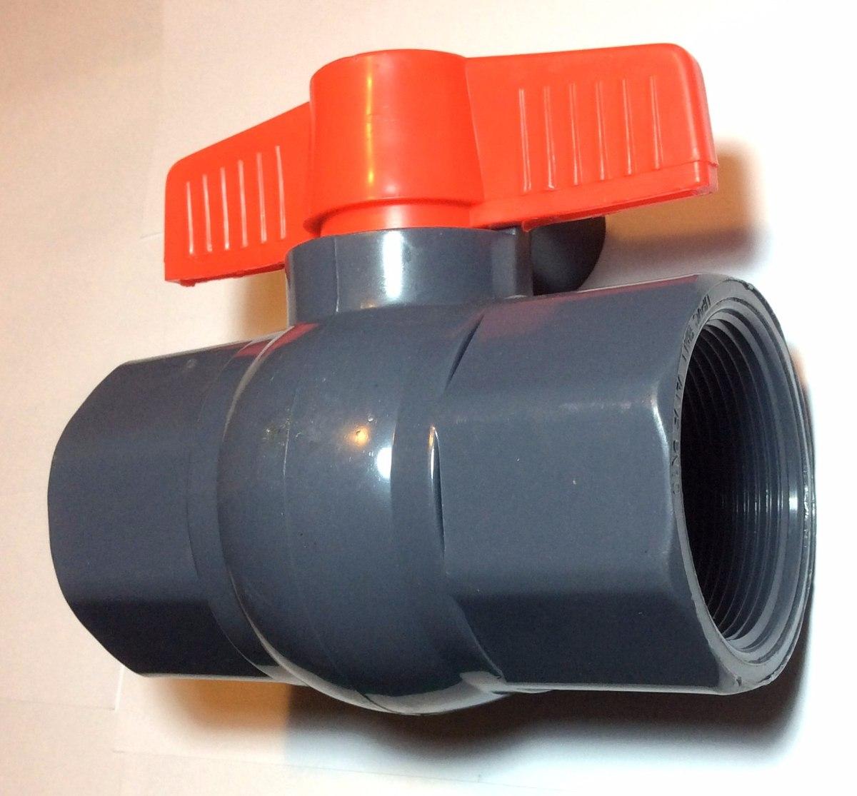 Llave de paso pvc plastica 1 2 pulgada con rosca bs 93 for Radiador pierde agua por llave