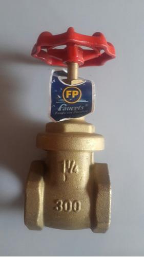 llave de paso valvula compuerta 1 1/4 fp