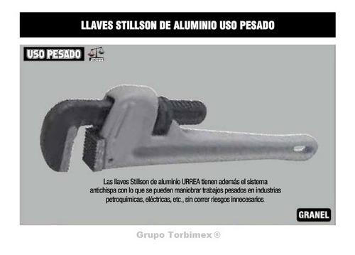 llave de presión stillson® de aluminio urrea 810a uso pesado