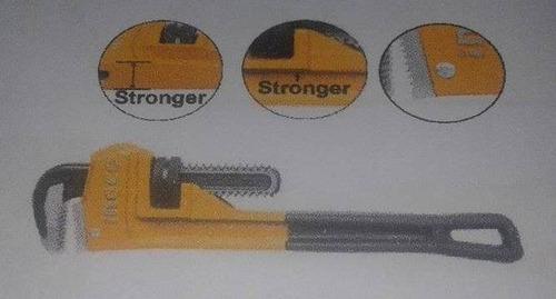 llave de tubo 8  industrial marca ingco.