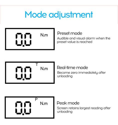 llave dinamométrica digital ajustable para reparación de