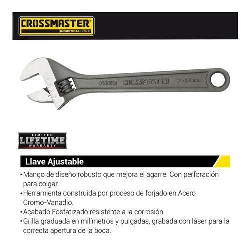 llave francesa inglesa ajustable crv crossmaster calidad 6