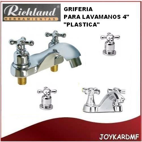 Llave griferia para lavamanos doble richlabd plastica 4 for Llaves para lavamanos easy