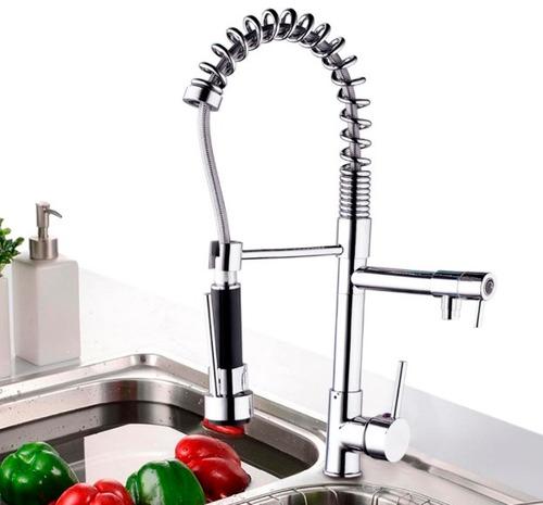 llave grifo fregadero lavaplatos monomando extensible modern