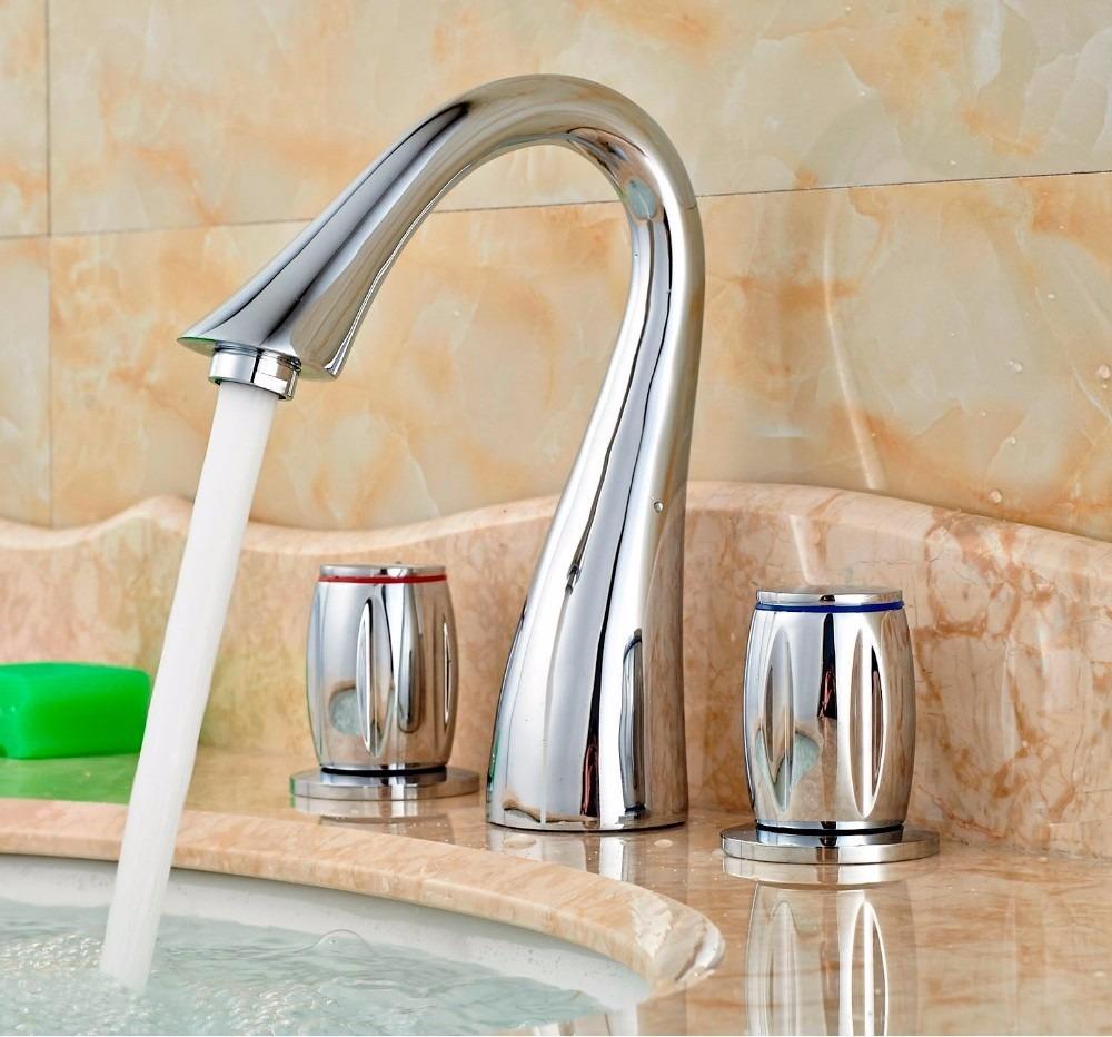 Llave grifo mezcladora lavamanos cromado cromo nickel for Llaves de lavamanos