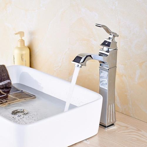 Llave grifo mezcladora monomando lavamanos nickel cromado for Llave monomando bano