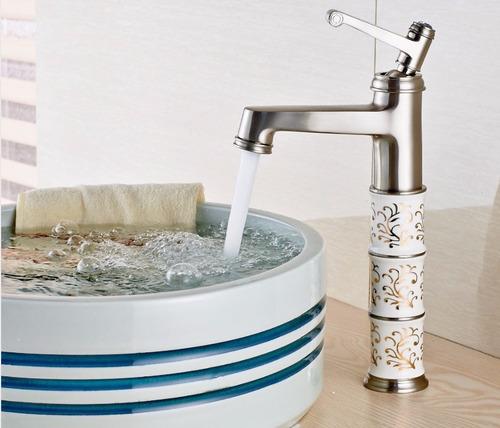 Llave grifo mezcladora monomando lavamanos nickel satinado for Precio llave lavamanos