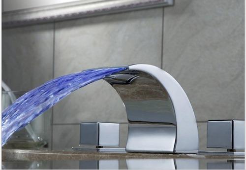 Llave grifo monomando lavabo ba o tina cascada cromo for Grifo para tina bano