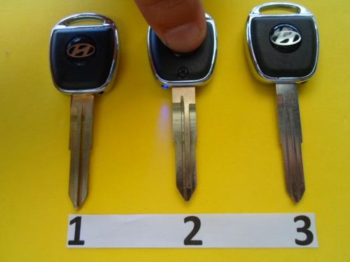 llave hueca hyundai diferentes modelos con luz