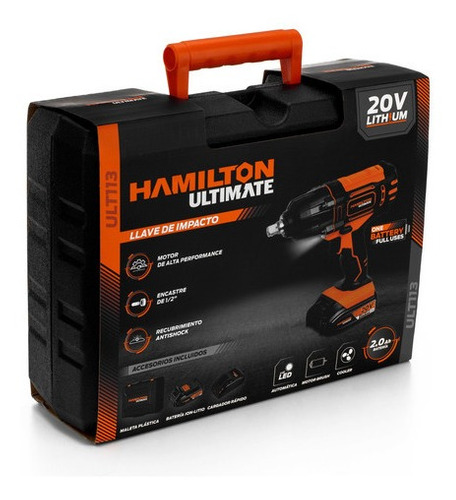 llave impacto 1/2 bateria 20v hamilton ultimate ult113 cuota