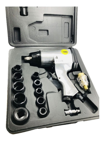 llave impacto neumatica pistola 1/2 - 320 nm kit acc