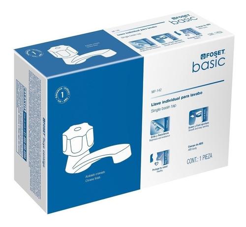 llave individual p/lavabo plastica basic foset 49309