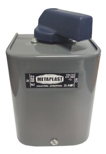 llave interruptora metaplast 220v 25amp bipolar metaplast