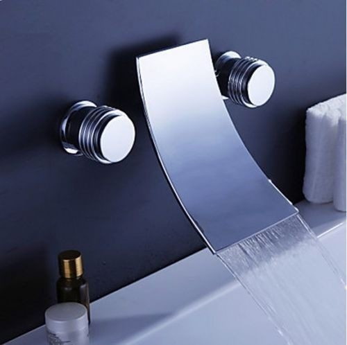 llave grifo lavabo ba o instalacion a muro pared dos. Black Bedroom Furniture Sets. Home Design Ideas