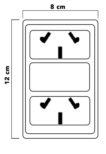 llave luz armado dos tomas pack 100 combinado covre obra