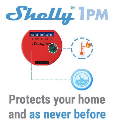 llave luz inteligente wifi shelly 1pm smart control domótica