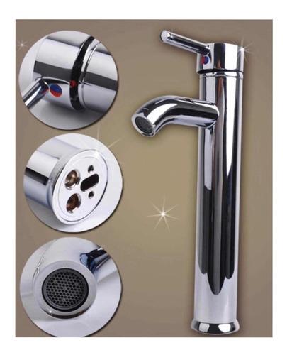 llave mezcladora de baño acero inoxidable  larga para ovalin