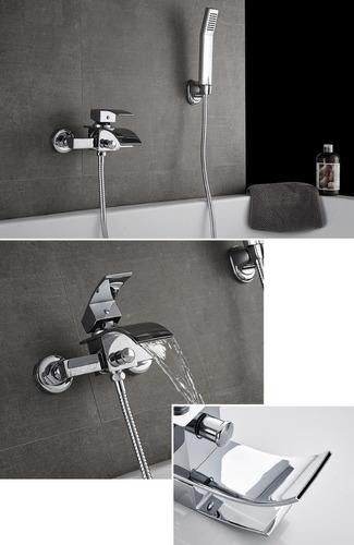 llave mezcladora grifo cascada montada muro para tina sp0