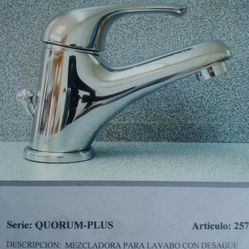 llave mezcladora italiana mod. quorum 2571 con desague 1¨