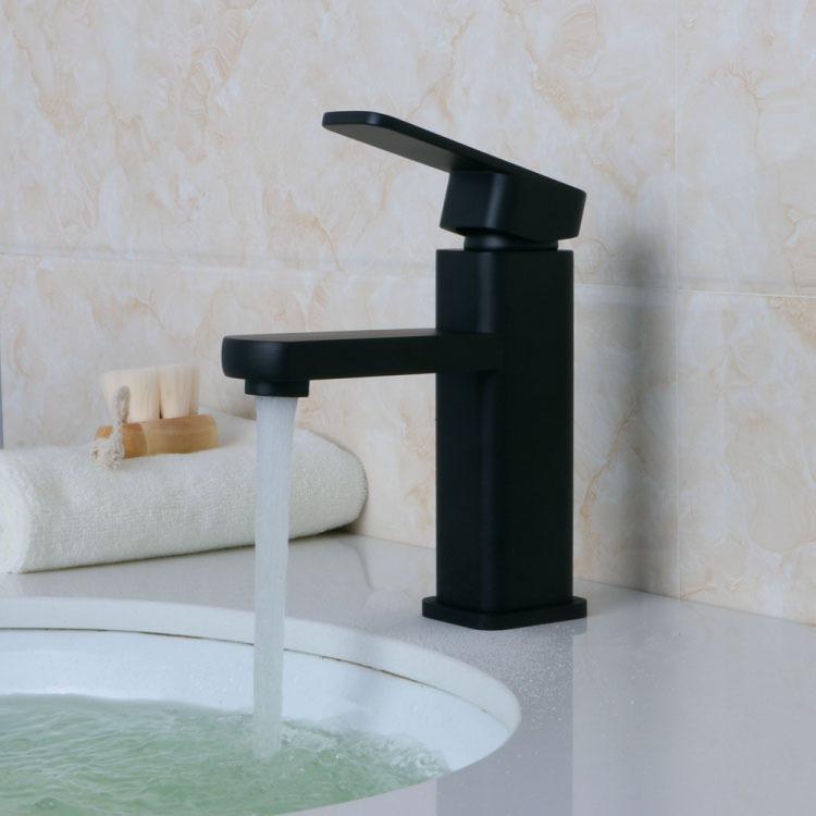 Llave mezcladora monomando negro para ovalin lavabo nuevo for Llave mezcladora para lavabo