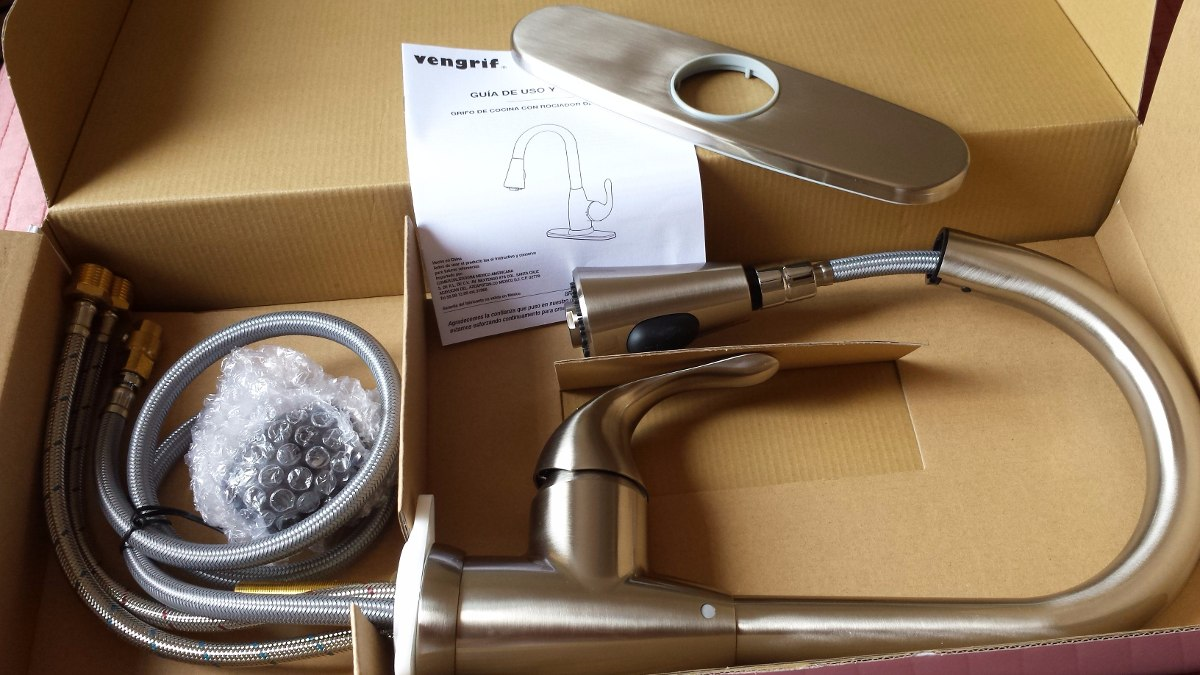 Llave mezcladora monomando para cocina grifo marca vengrif for Mezcladora para cocina