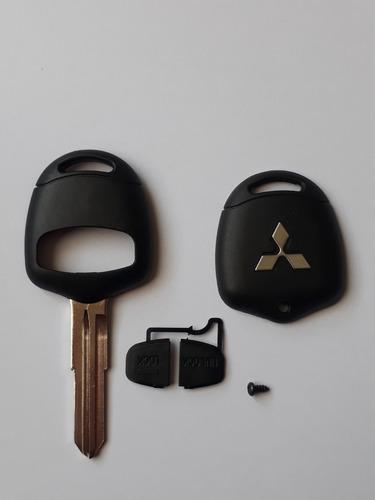 llave mitsubishi l200,montero  ( carcasa ) con logo