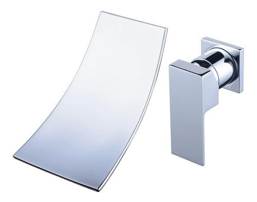 llave monomando lavabo baño cromada grifo pared cascada