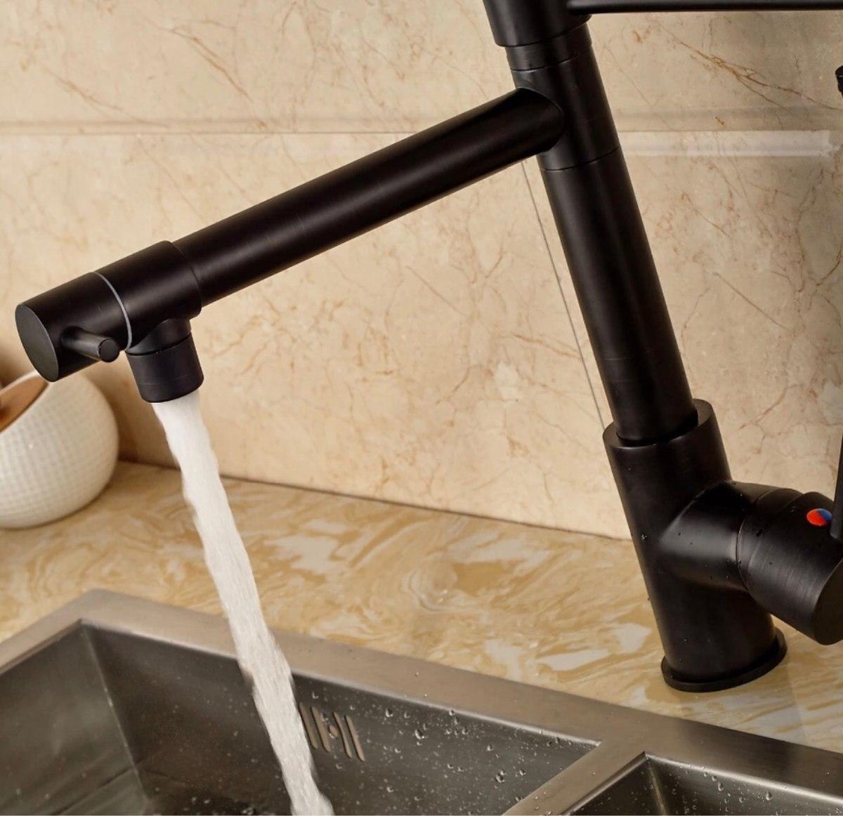 Llave monomando mezcladora grifo cocina en negro r0 106 for Marcas de grifos de cocina