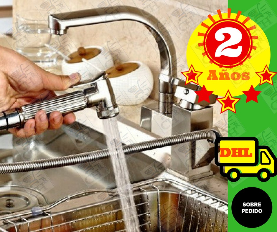 Llave monomando mezcladora grifo cocina satinada t 9 for Llaves para cocina