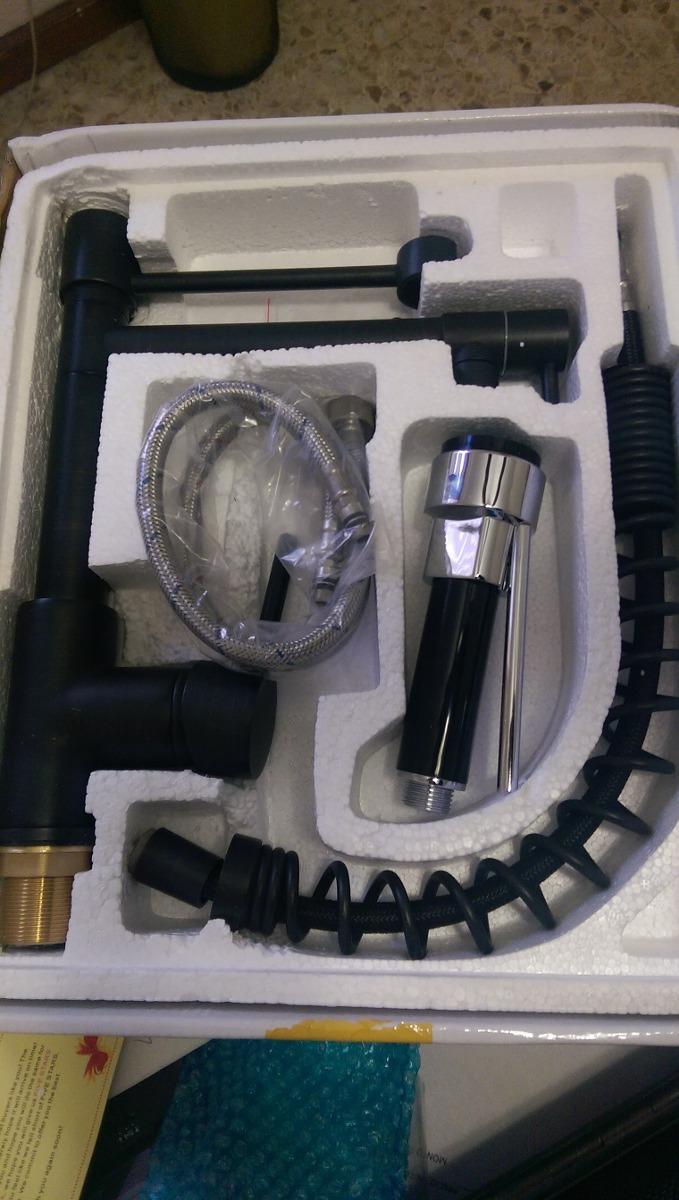 Llave negra mezcladora cocina monomando 2 en mercado libre for Llaves mezcladoras para cocina