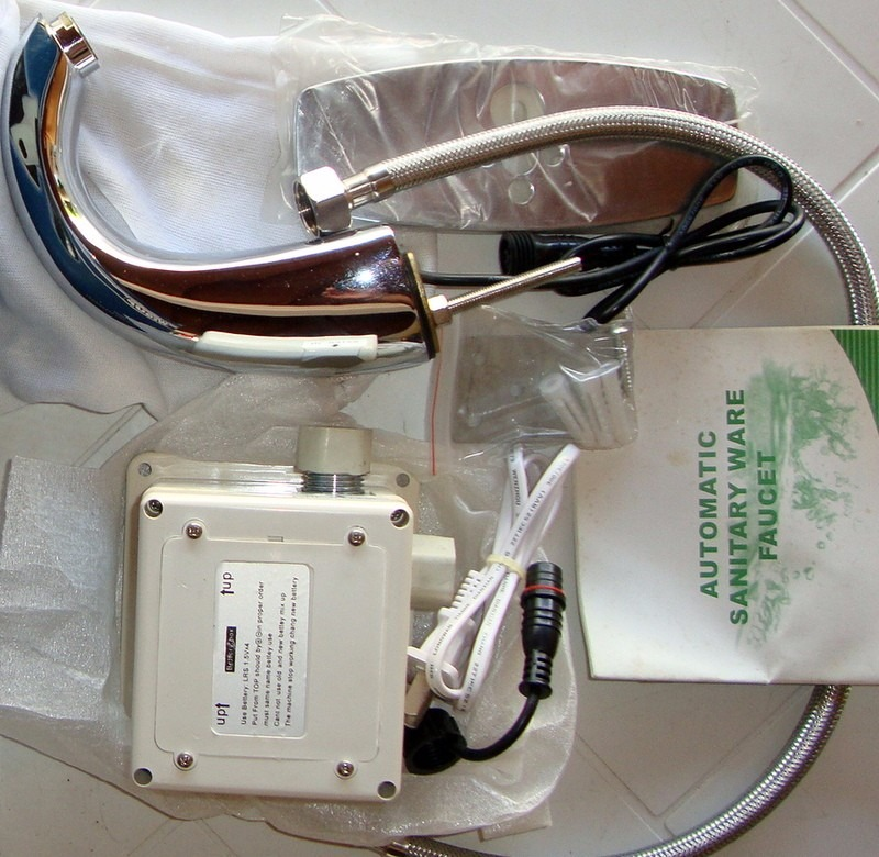 Llave o grifo para lavamanos autom tico con sensor wequp for Llaves con sensor para bano