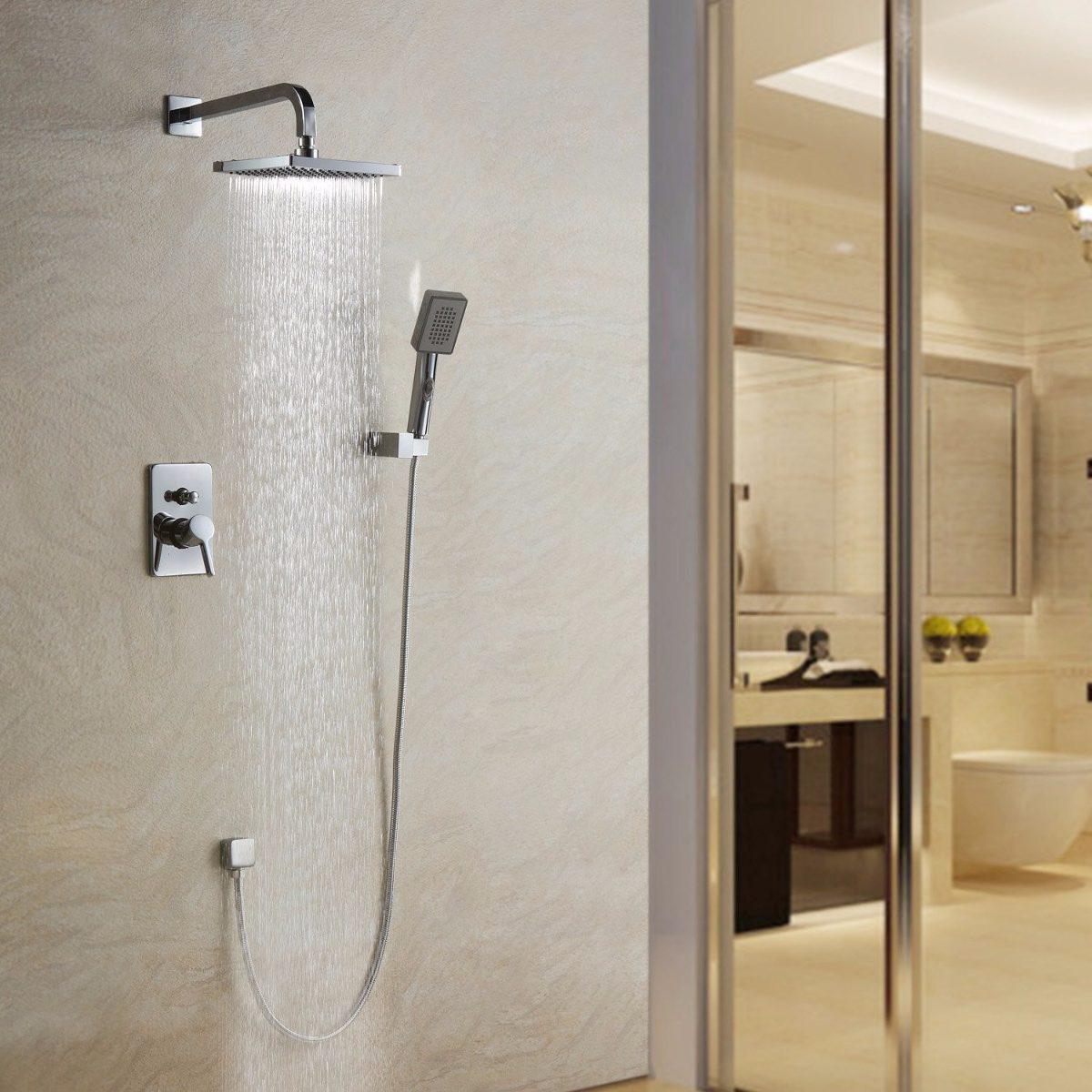 Llave ouku ba o ducha regadera fija y de telefono for Llaves para shower