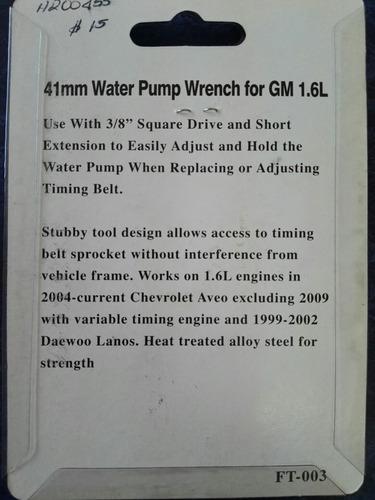 llave para bomba de agua de aveo.