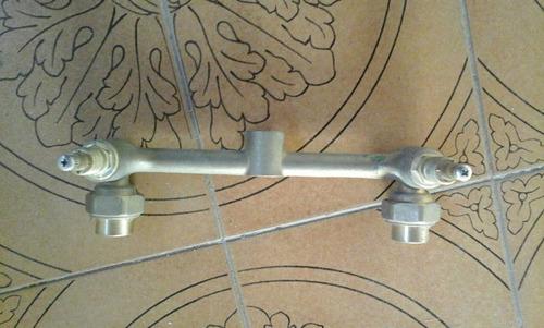 llave para ducha doble de bronce (agua fria y caliente).