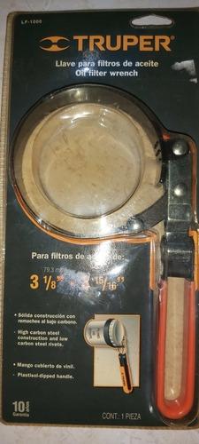 llave para filtro de aceite truper de 79.3 a 100mm