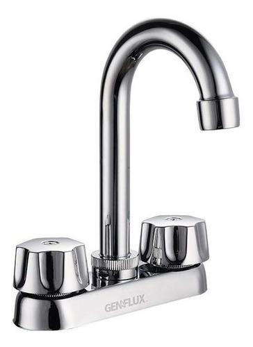 llave para lavabo 4  de plástico  mzla130plcb genflux