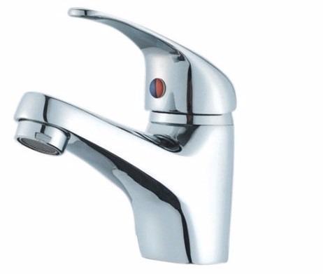 llave para lavamanos de metal griferia monomando frio cal