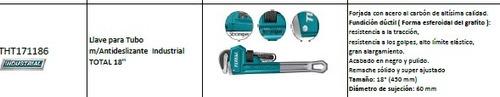 llave para tubo m/antideslizante industrial total 18''